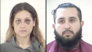 Police mugshots of Britany Barron and her husband, Armando