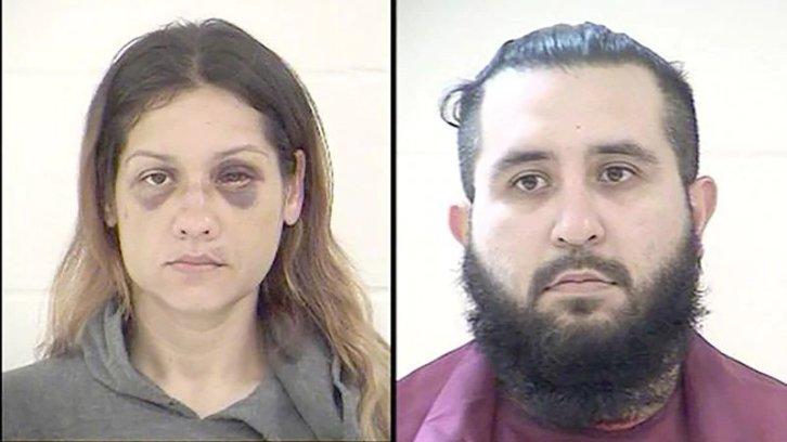 Police mugshots of Britany Barron and her husband, Armando