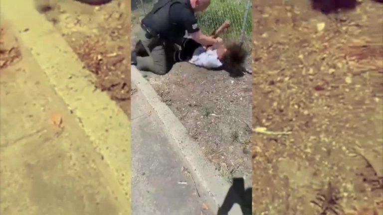 California cop pummels 14-year-old boy