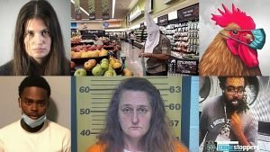 Noelle Rascati; KKK shopper; masked chicken; Jahquez Scott; Katrina Morgan; and the Bronx bleach thrower