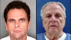 Richard DeLisi at the start of his sentence (left) and now, 31 years later