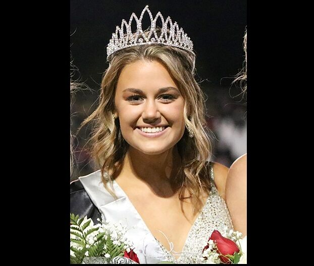 Emily Rose Grover as Tate High School's 2020 homecoming queen