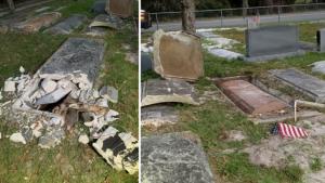 Graves found disturbed Sunday at Edgewood Cemetery, Mount Dora, Florida