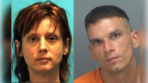 Mugshots of Amber Gormley and Shawn McClelland