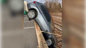 The result of the mercifully unnamed Maryland woman's epic parking fail