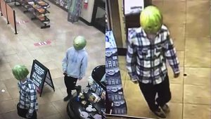 melon-wearing shoplifters in Louisa, Virginia