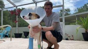 Trent Tweddale and his dog Loki