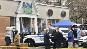 Baltimore County police investigating the shooting Sunday at the Royal Farms convenience store in Essex, Md, in which two were killed and a third injured
