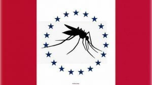 Thomas Rosete's proposal for Mississippi's new state flag, featuring a giant mosquito