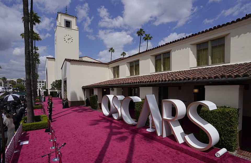 The red carpet for the Academy Awards at Union Station in Los Angeles