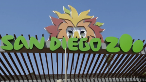 Sign at the entrance to San Diego Zoo