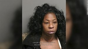 Police mugshot of Detroit woman Youlette Wedgeworth, who allegedly bit off a chunk of her friend's tongue during a kiss
